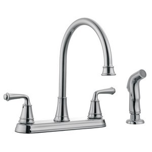 Design House 524710 Eden Kitchen Faucet with Sprayer, Polished Chrome