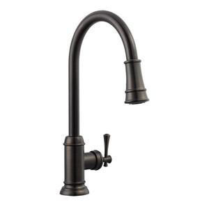Design House 524728 Ironwood Kitchen Faucet with Pullout Sprayer, Brushed Bronze