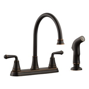 Design House 524736 Eden Kitchen Faucet with Sprayer, Oil Rubbed Bronze