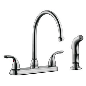 Design House 525071 Ashland High Arch Kitchen Faucet with Sprayer, Polished Chrome