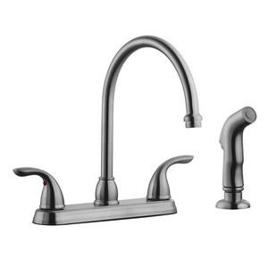 Design House 525089 Ashland High Arch Kitchen Faucet with Sprayer, Satin Nickel