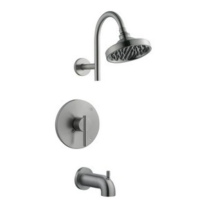 Design House 525691 Geneva Tub & Shower Faucet, Satin Nickel