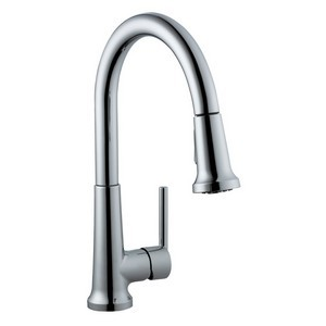 Design House 525725 Geneva Kitchen Faucet with Pullout Sprayer, Polished Chrome