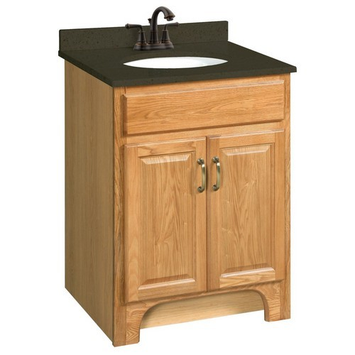 Design House 530386 Richland Nutmeg Oak Vanity Cabinet with 2-Doors, 24 X 21
