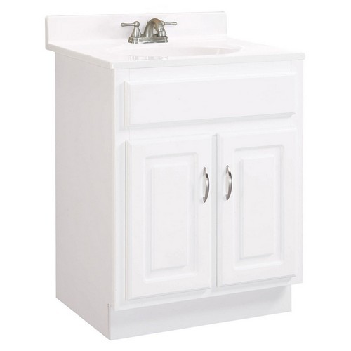 Design House 531277 Concord White Gloss Vanity Cabinet with 2-Doors, 30 X 18 X 30