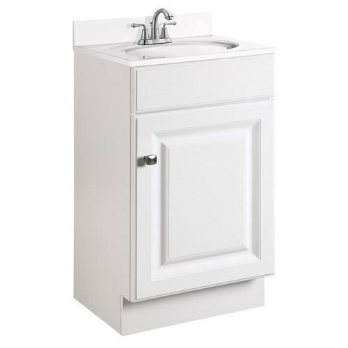 Design House 531723 Wyndham White Semi-Gloss Vanity Cabinet with 1-Door, 18 X 16-1/4 X 31-1/2