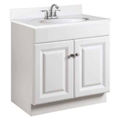 Design House 531731 Wyndham White Semi-Gloss Vanity Cabinet with 2-Doors, 24 X 18-1/2 X 31-1/2
