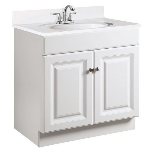 Design House 531749 Wyndham White Semi-Gloss Vanity Cabinet with 2-Doors, 30 X 18 X 31-1/2