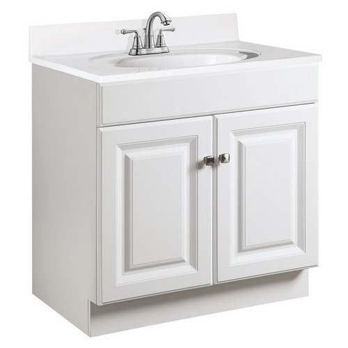 Design House 531939 Wyndham White Semi-Gloss Vanity Cabinet with 2-Doors, 24 X 21-1/2 X 31-1/2