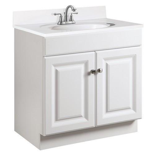 Design House 531947 Wyndham White Semi-Gloss Vanity Cabinet with 2-Doors, 30 X 21-1/2 X 31-1/2