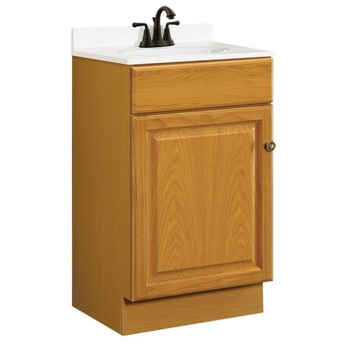 Design House 531970 Claremont Honey Oak Vanity Cabinet with 1-Door & 1-Drawer, 18 X 16-1/4 X 31-1/2