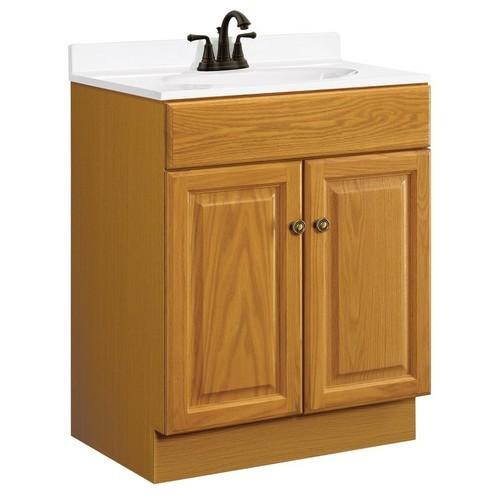 Design House 531988 Claremont Honey Oak Vanity Cabinet with 2-Doors, 24 X 18-1/2 X 31-1/2