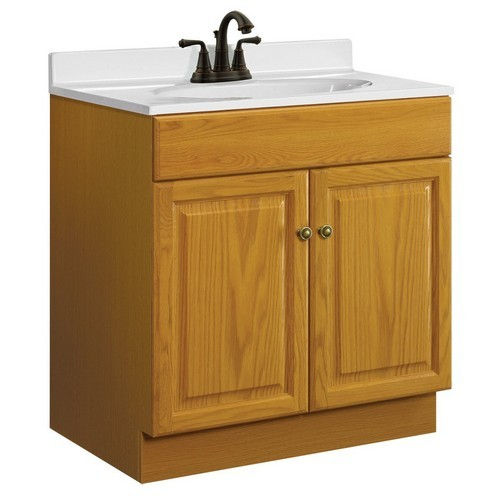 Design House 531996 Claremont Honey Oak Vanity Cabinet with 2-Doors, 30 X 18 X 31-1/2