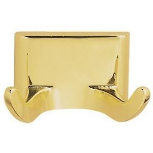 Design House 533307 Millbridge Double Robe Hook, Polished Brass