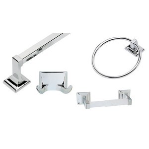 Design House 534628 Millbridge 4-Piece Bathroom Kit, Polished Chrome