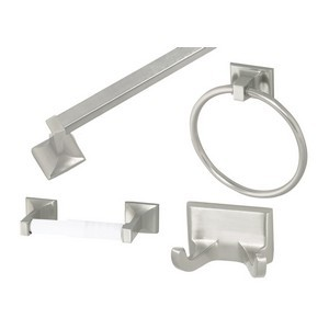 Design House 534644 Millbridge 4-Piece Bathroom Kit, Satin Nickel