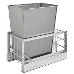 Rev-A-Shelf 5349-15DM18-1SS 35 Qt. Pullout Waste Container, 18in Depth