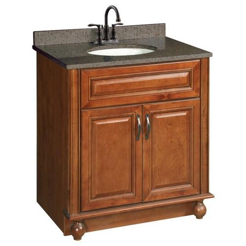 Design House 538520 Montclair Chestnut Glaze Vanity Cabinet with 2-Doors, 30 X 21
