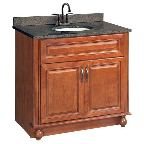 Design House 538546 Montclair Chestnut Glaze Vanity Cabinet with 2-Doors, 36 X 21