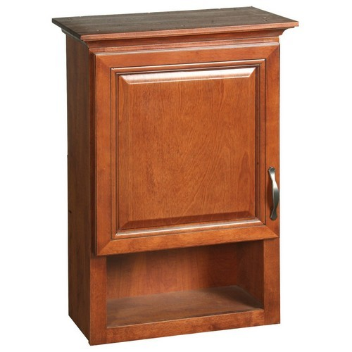 Design House 538587 Montclair Chestnut Glaze Wall Cabinet with 1-Door & 1-Shelf, 30 X 21