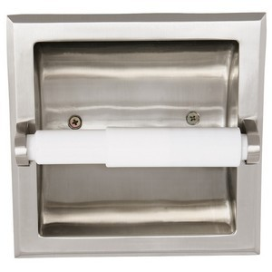 Design House 539189 Millbridge Recessed Toilet Paper Holder, Satin Nickel