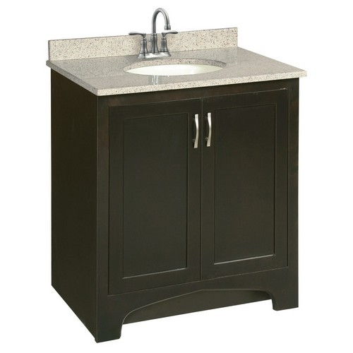 Design House 539593 Ventura Espresso Vanity Cabinet with 2-Doors, 30 X 33-1/2
