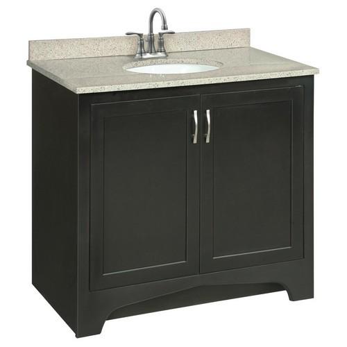 Design House 539601 Ventura Espresso Vanity Cabinet with 2-Doors, 36 X 33-1/2
