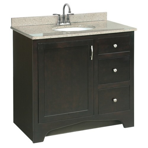 Design House 539619 Ventura Espresso Vanity Cabinet with 1-Door & 2-Drawers, 36 X 33-1/2