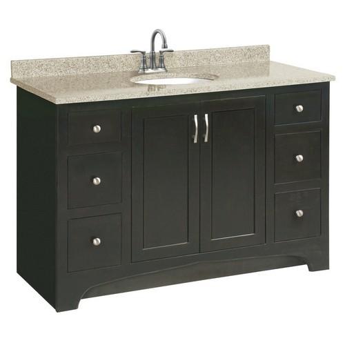 Design House 539627 Ventura Espresso Vanity Cabinet with 2-Doors & 4-Drawers, 48 X 33-1/2