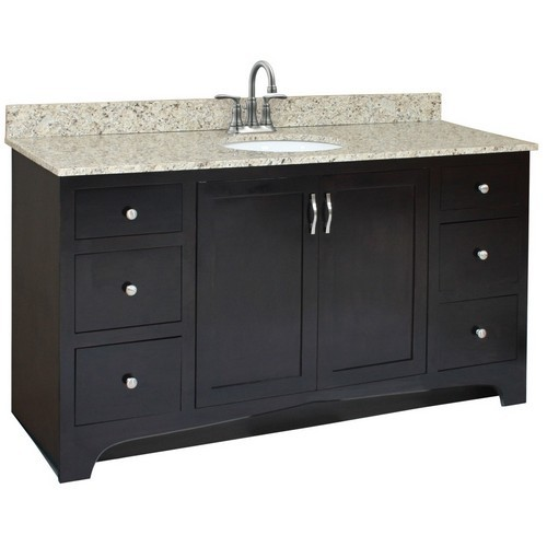 Design House 539635 Ventura Espresso Vanity Cabinet with 2-Doors & 4-Drawers, 48 X 33-1/2