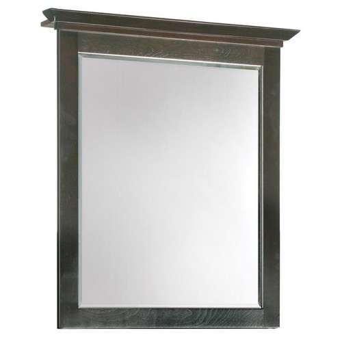 Design House 539692 Ventura Espresso Wall Mirror with Solid Maple Frames, 26 X 30