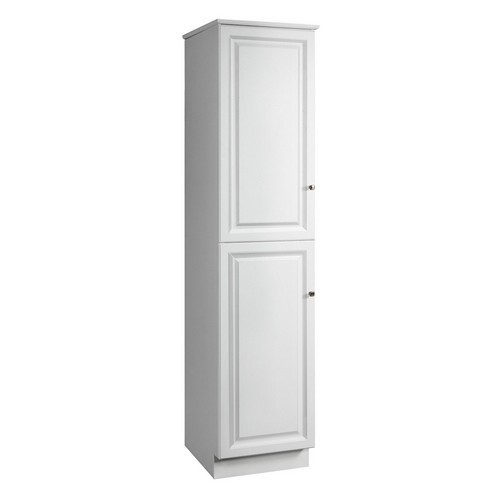 Design House 539700 Wyndham White Semi-Gloss Linen Tower Cabinet with 2-Doors & 4-Shelves, 19 X 22-1/4 X 84