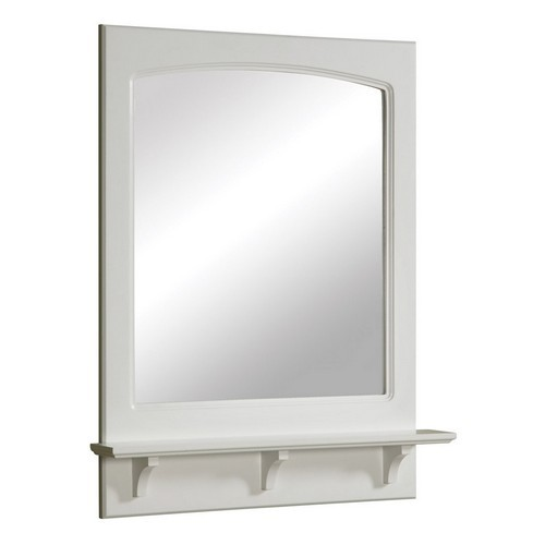 Design House 539916 Concord White Gloss Mirror with Shelf, 25.6 X 4 X 31