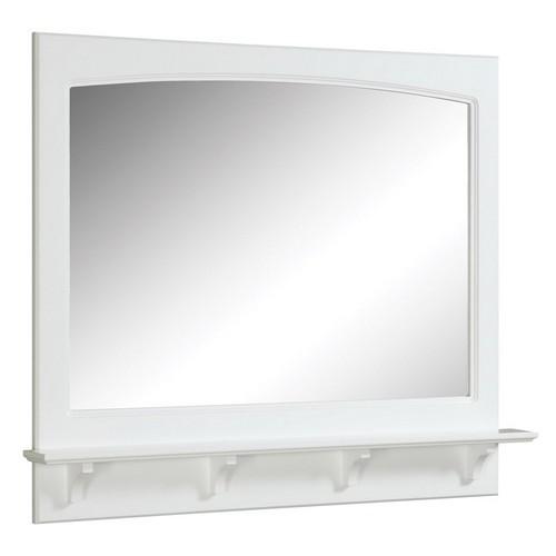 Design House 539940 Concord White Gloss Mirror with Shelf, 37.8 X 4 X 31