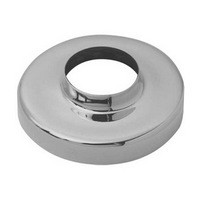 Lavi 20-541/1H, Bar Railing Round Steel Flange with Insert, Steel, 3-1/2 dia. x 12 H