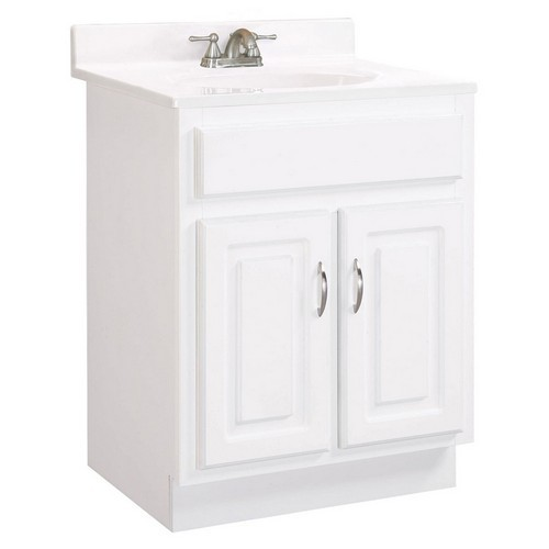 Design House 541029 Concord White Gloss Vanity Cabinet with 2-Doors, 24 X 21 X 30