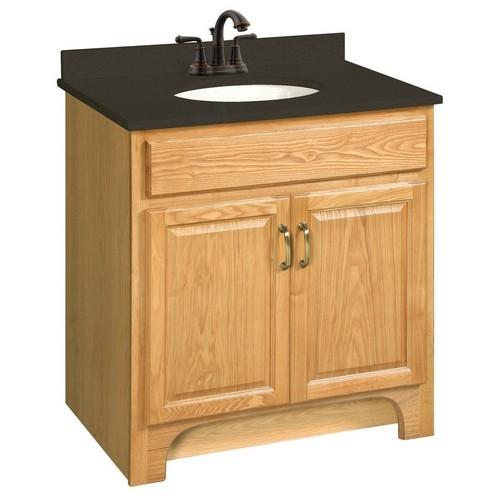 Design House 541144 Richland Nutmeg Oak Vanity Cabinet with 2-Doors, 30 X 18