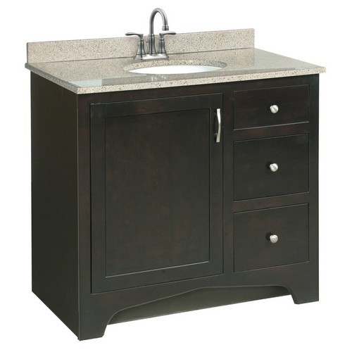 Design House 541284 Ventura Espresso Vanity Cabinet with 1 ...