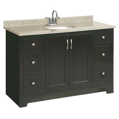 Design House 541292 Ventura Espresso Vanity Cabinet with 2-Doors & 4-Drawers, 48 X 33-1/2