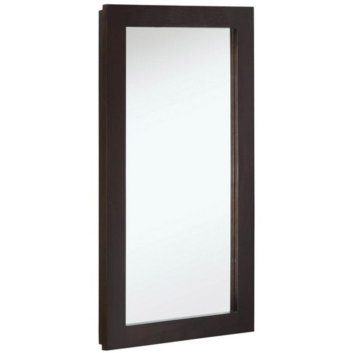 Design House 541326 Ventura Single Door Medicine Cabinet Mirror, 16 X 30, Espresso