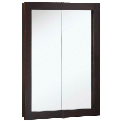 Design House 541334 Ventura Espresso Bi-View Medicine Cabinet Mirror with 2-Doors & 2-Shelves, 24 X 30