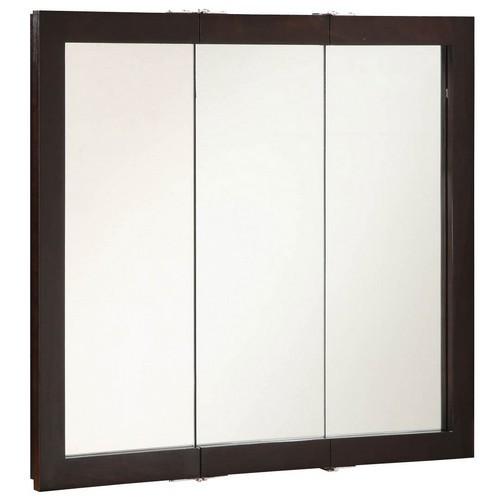 Design House 541359 Ventura Espresso Tri-View Medicine Cabinet Mirror, 36 X 30