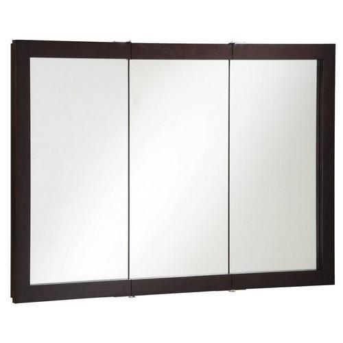 Design House 541367 Ventura Espresso Tri-View Medicine Cabinet Mirror, 48 X 30