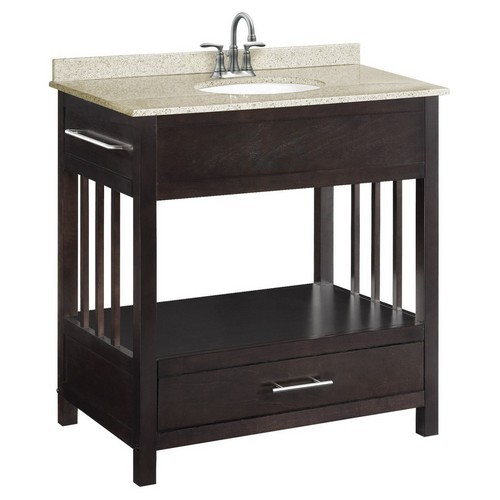 Design House 541516 Ventura Espresso Console Vanity Cabinet with 1-Drawer, 30 X 21