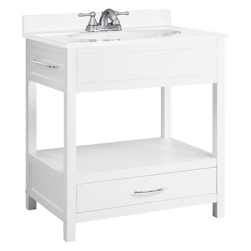 Design House 541532 Concord White Gloss Console Vanity, 30 X 21
