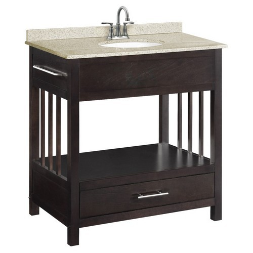 Design House 541672 Ventura Espresso Console Vanity Cabinet with 1-Drawer, 30 X 33-1/2