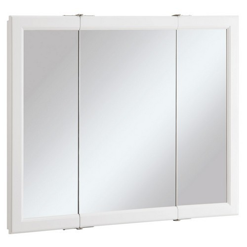 Design House 545103 Wyndham White Semi Gloss Tri View Medicine Cabinet Mirror With 3 Doors 36 Inches By 4 75 30