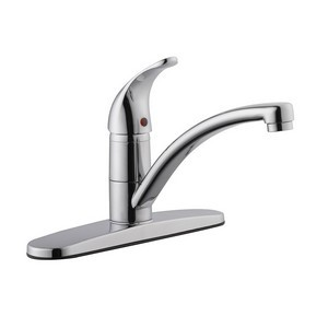 Design House 545616 Trenton 9in Kitchen Faucet No Sprayer Polished Chrome