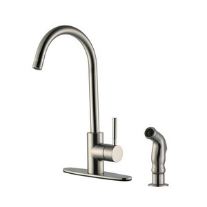 Design House 545715 Springport Kitchen Faucet Satin Nickel