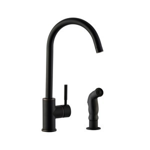Design House 545723 Springport Kitchen Faucet With Side Sprayer Oil Rubbed Bronze